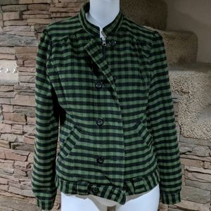 Flying Tomato plaid coat size medium